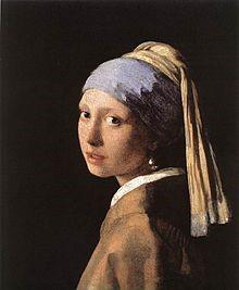 اثریوهانس فرمیر دختری با گوشواره مروارید اثریوهانس فرمیر(۱۶۶۵)